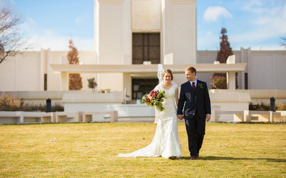 Denver LDS temple Wedding Kyle and Emily