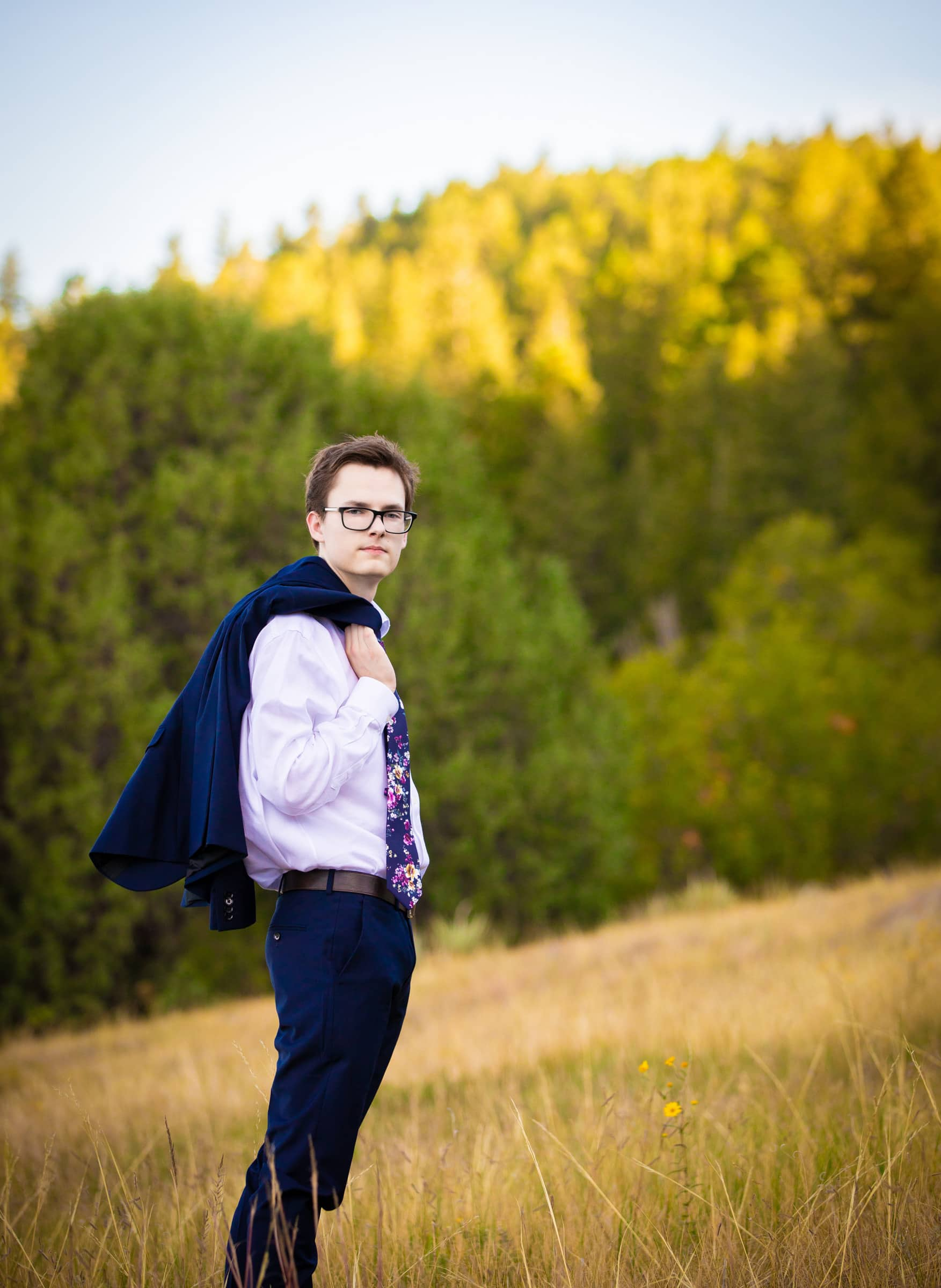 Aaron, High School Senior Portrait Session Parker, Colorado